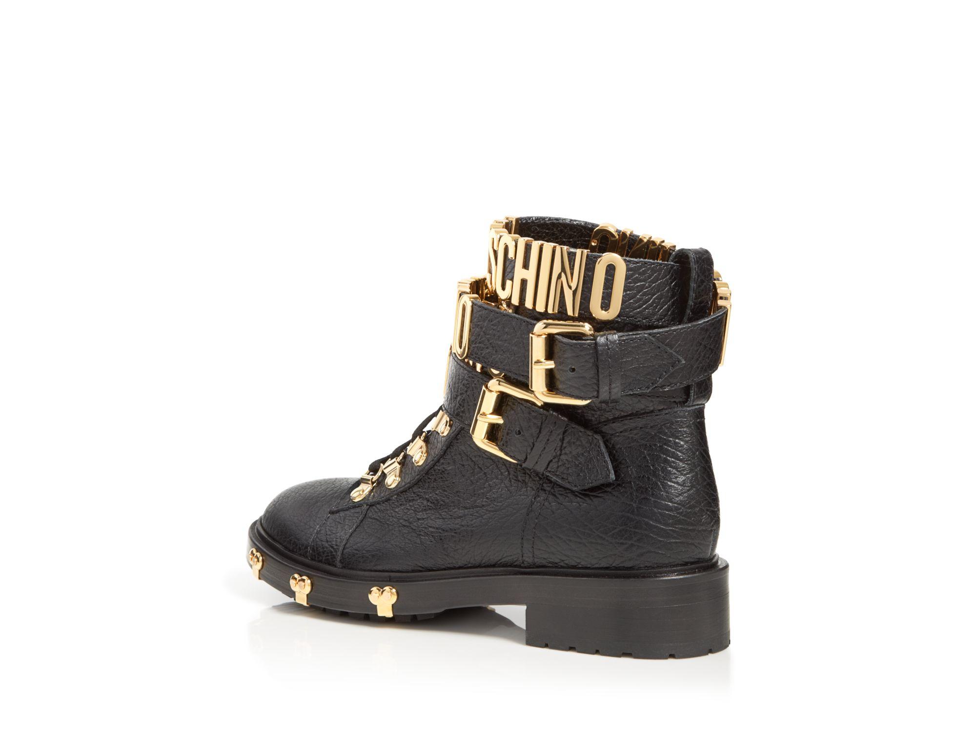 Moschino Logo buckle boots eMHKRi