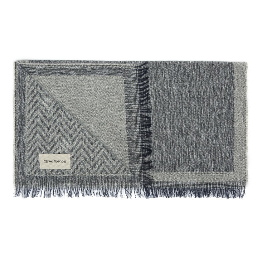 oliver spencer grey alpaca wool scarf in gray for lyst