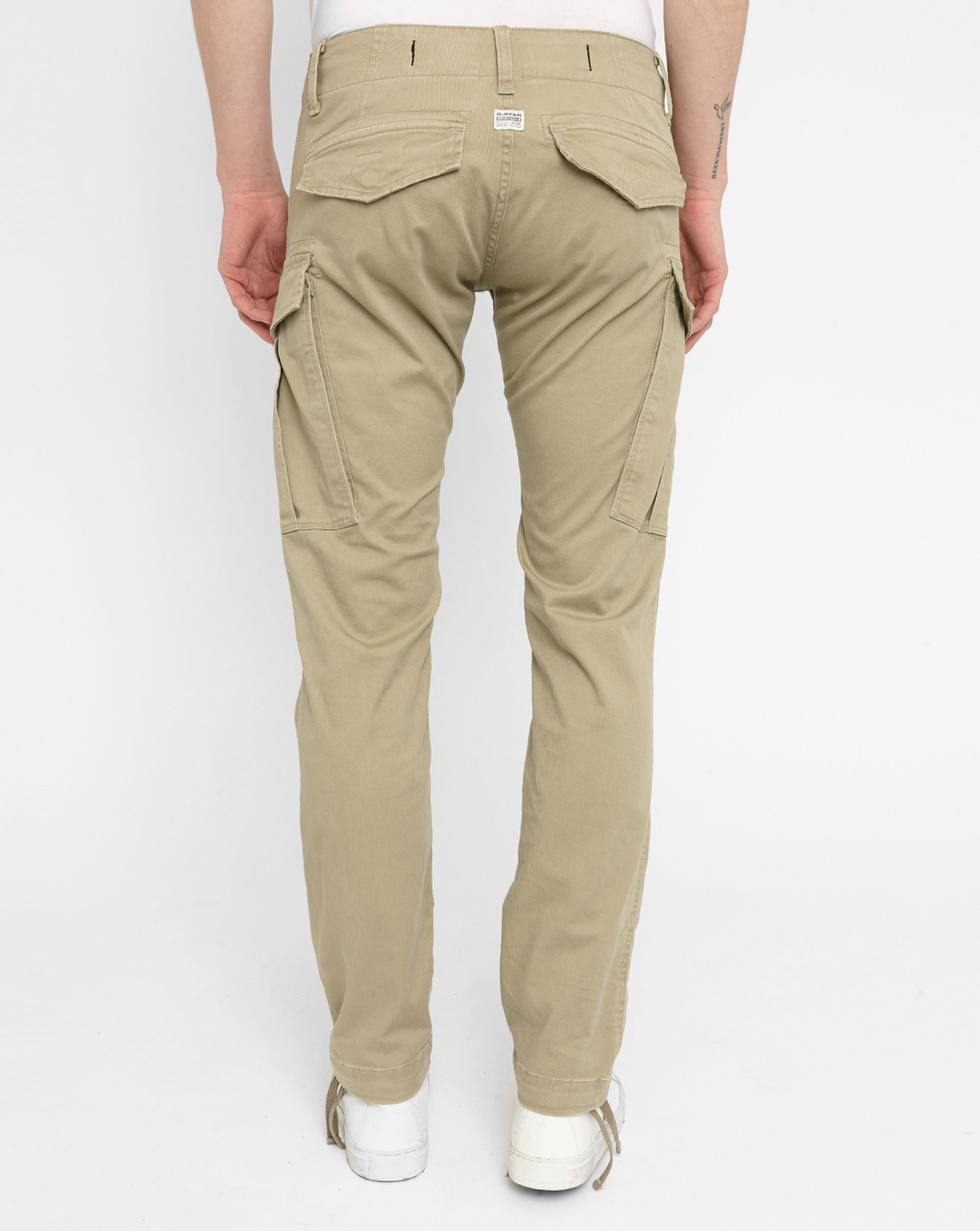 g star raw beige rovic zip 3d tapered slim fit trousers in. Black Bedroom Furniture Sets. Home Design Ideas