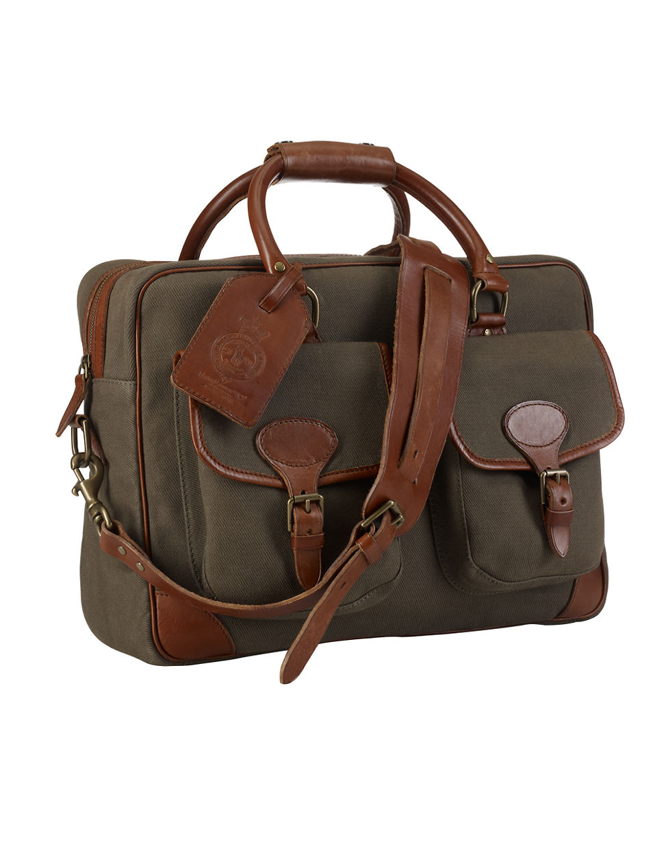 Lyst - Polo Ralph Lauren Canvas Leather Commuter Bag in Natural for Men b86256aafc