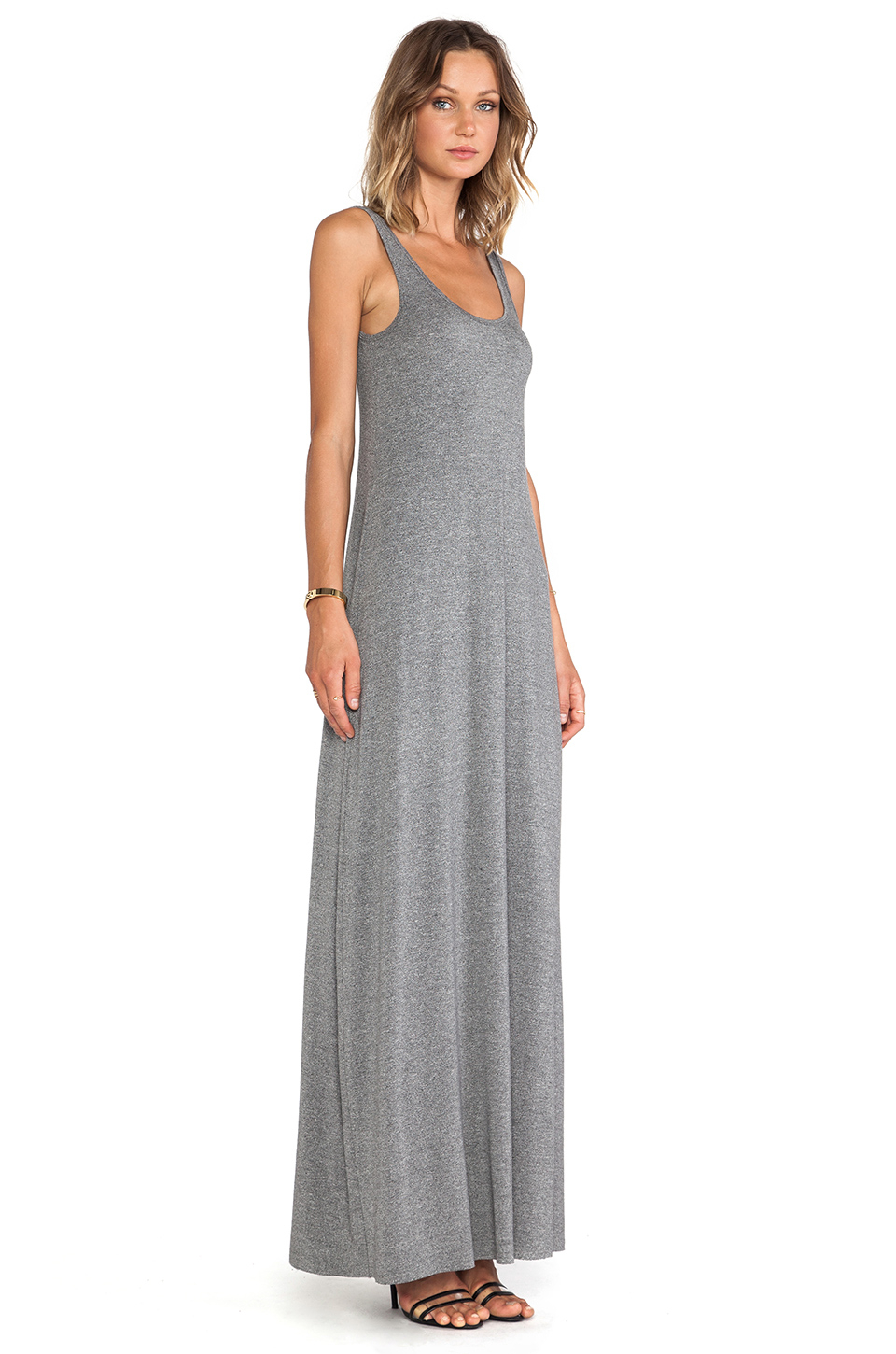 Bella luxx Maxi Tank Dress in Gray | Lyst