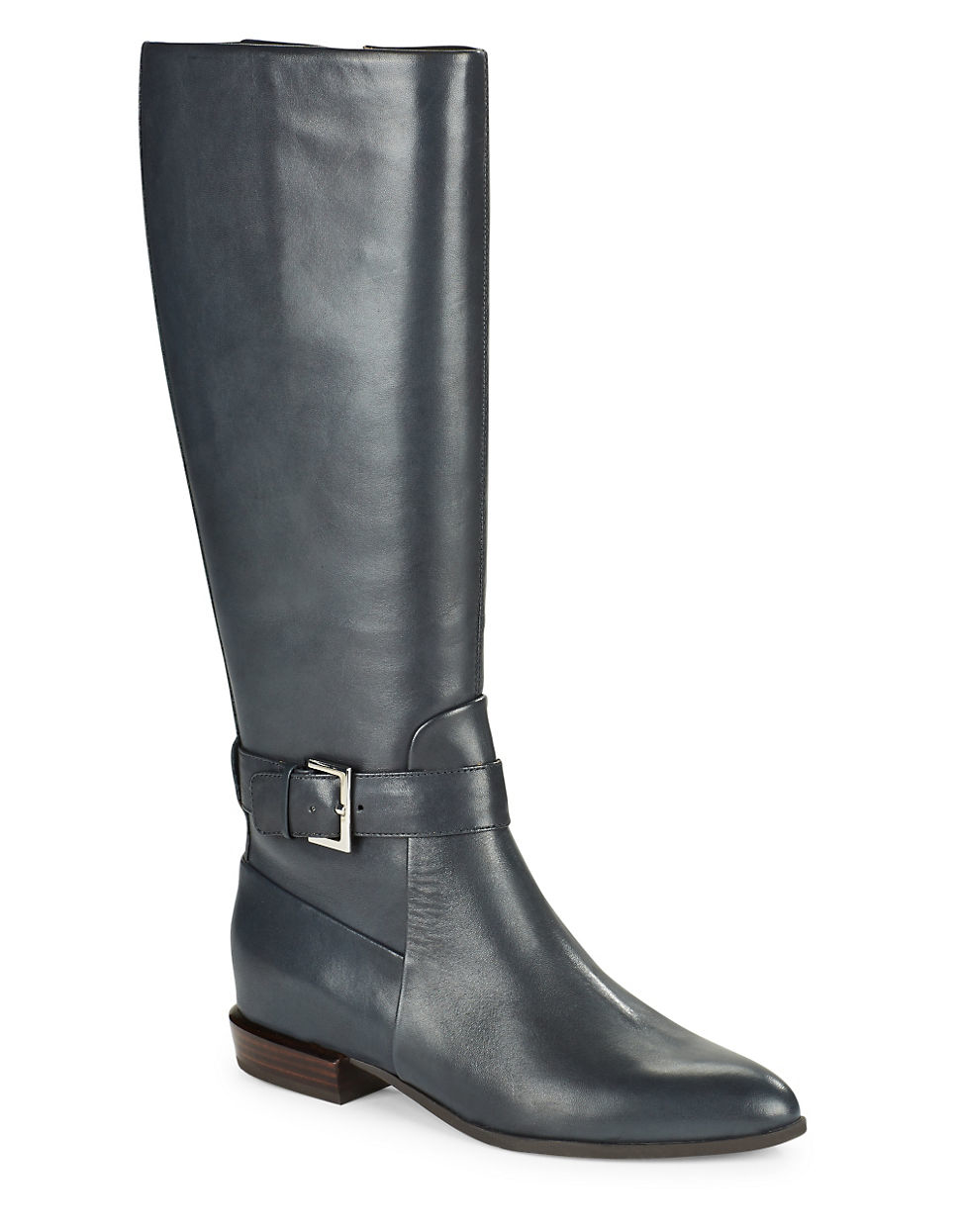 Nine West Diablo Leather Knee High Boots In Blue Lyst