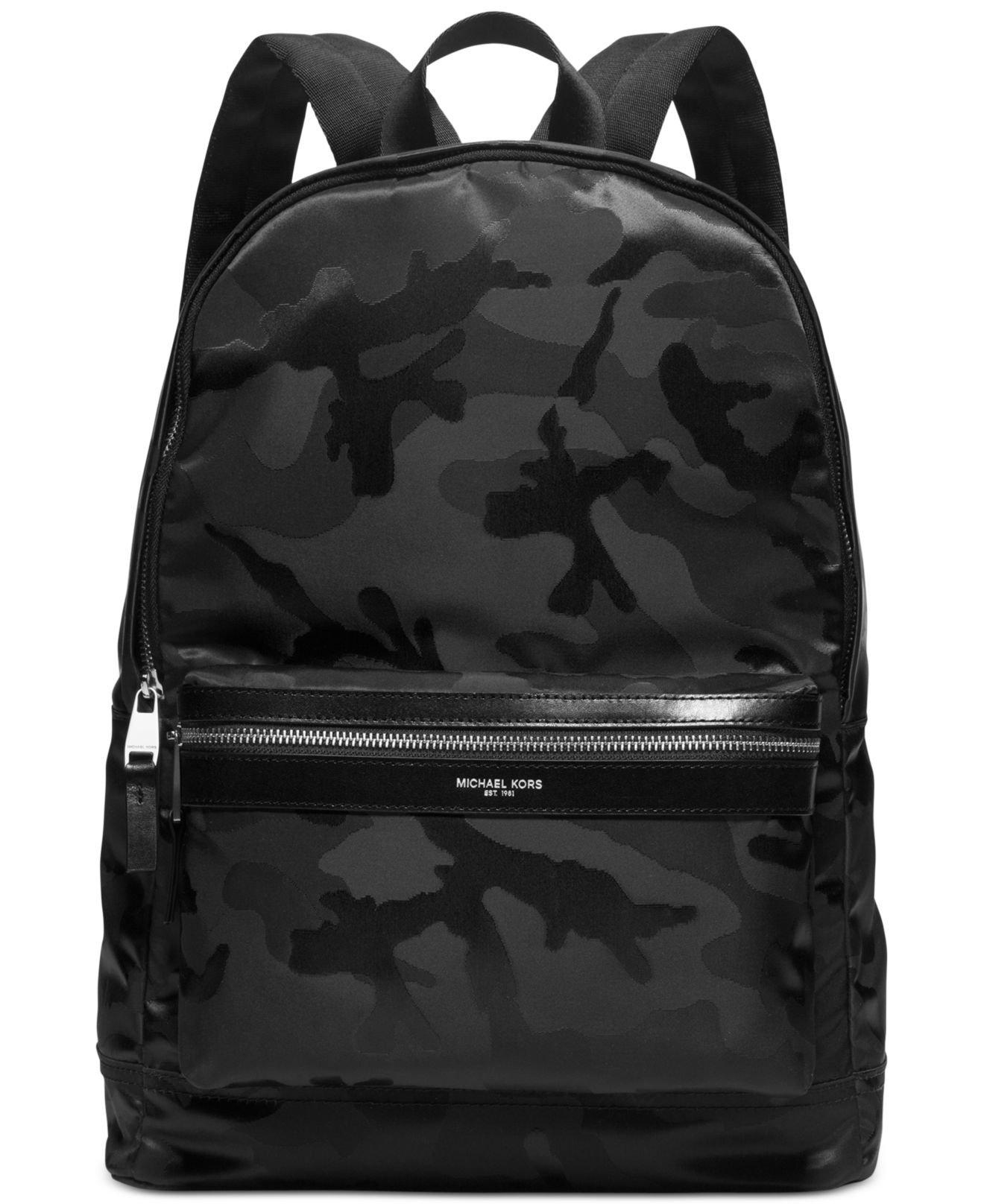 6f294830bb Lyst - Michael Kors Kent Camo Backpack in Black for Men