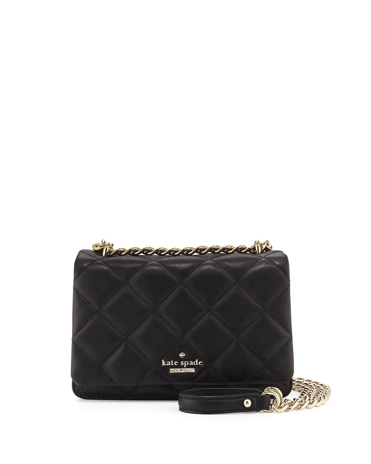 Lyst - Kate Spade Emerson Place Vivenna Mini Crossbody Bag in Black 18738091b2