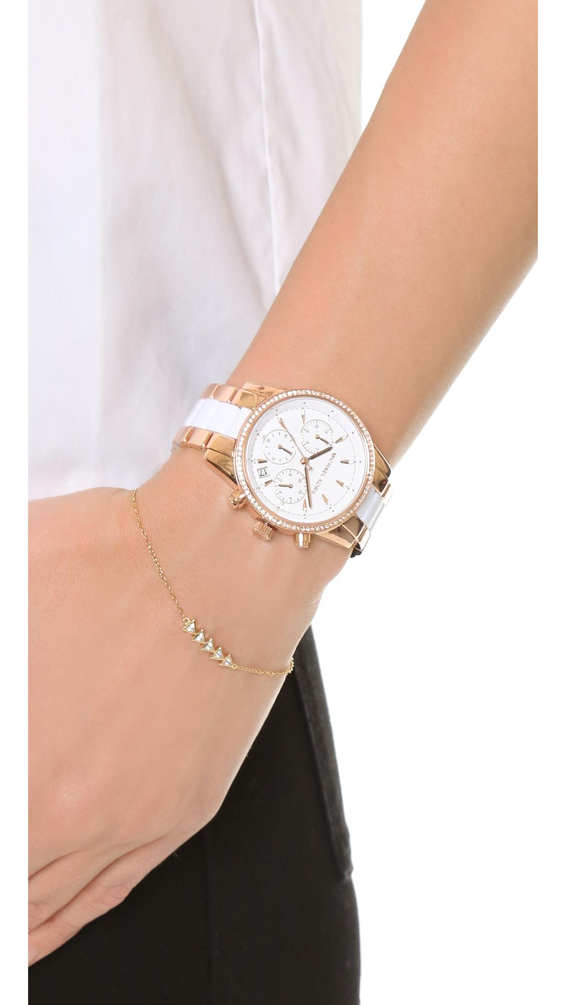 588cffd0f46 Lyst - Michael Kors Ritz Watch in Pink