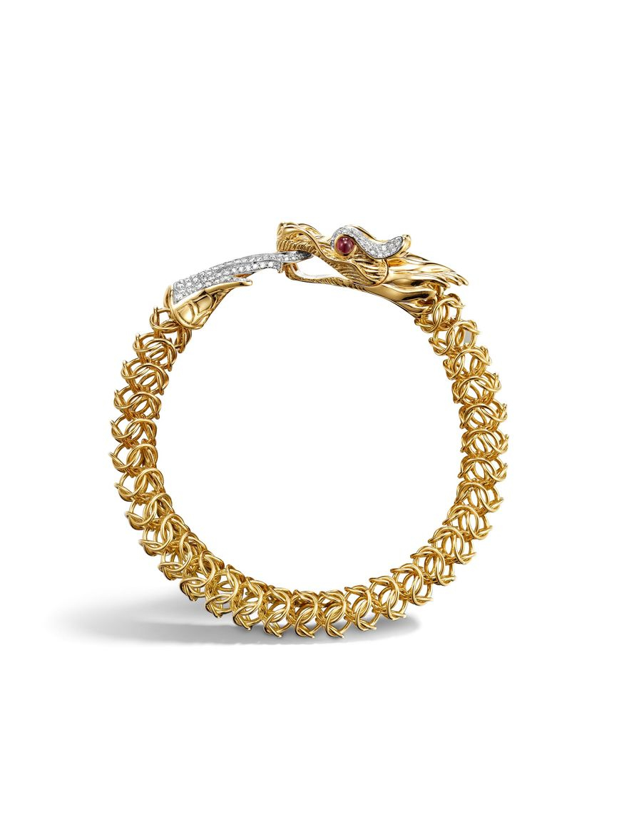 John Hardy Legends Naga Medium Dragon Bracelet In Metallic