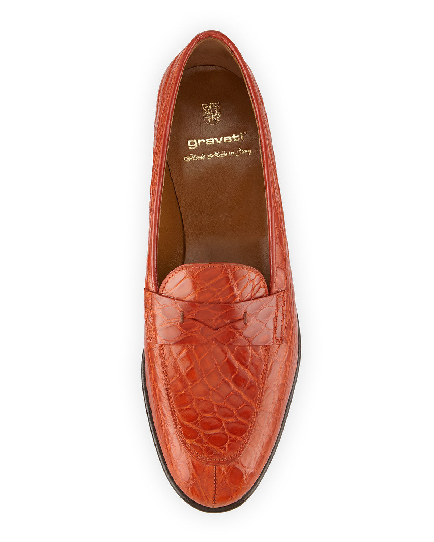 Bugatti Shoes Red Crocodile