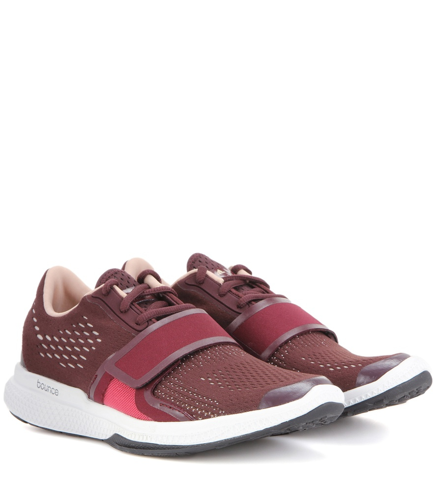 low priced 87cdf a812f Adidas By Stella Mccartney Atani Bounce Fabric Sneakers in Red - Lyst