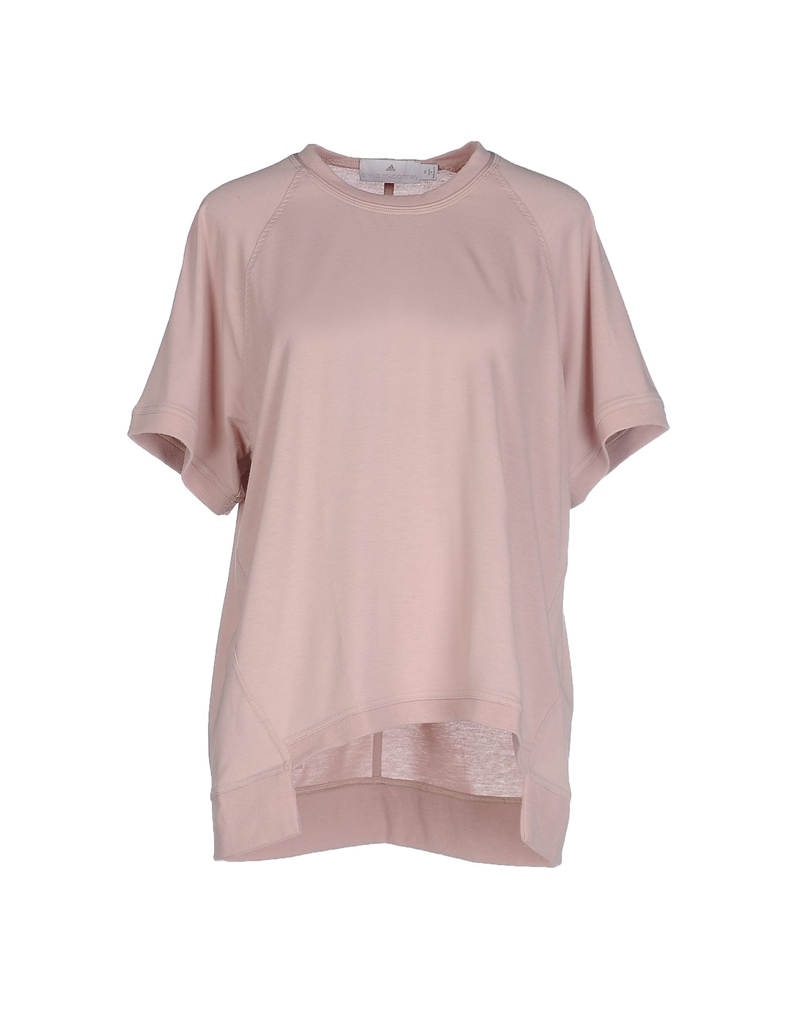 Adidas by stella mccartney t shirt in natural lyst for Stella mccartney t shirt