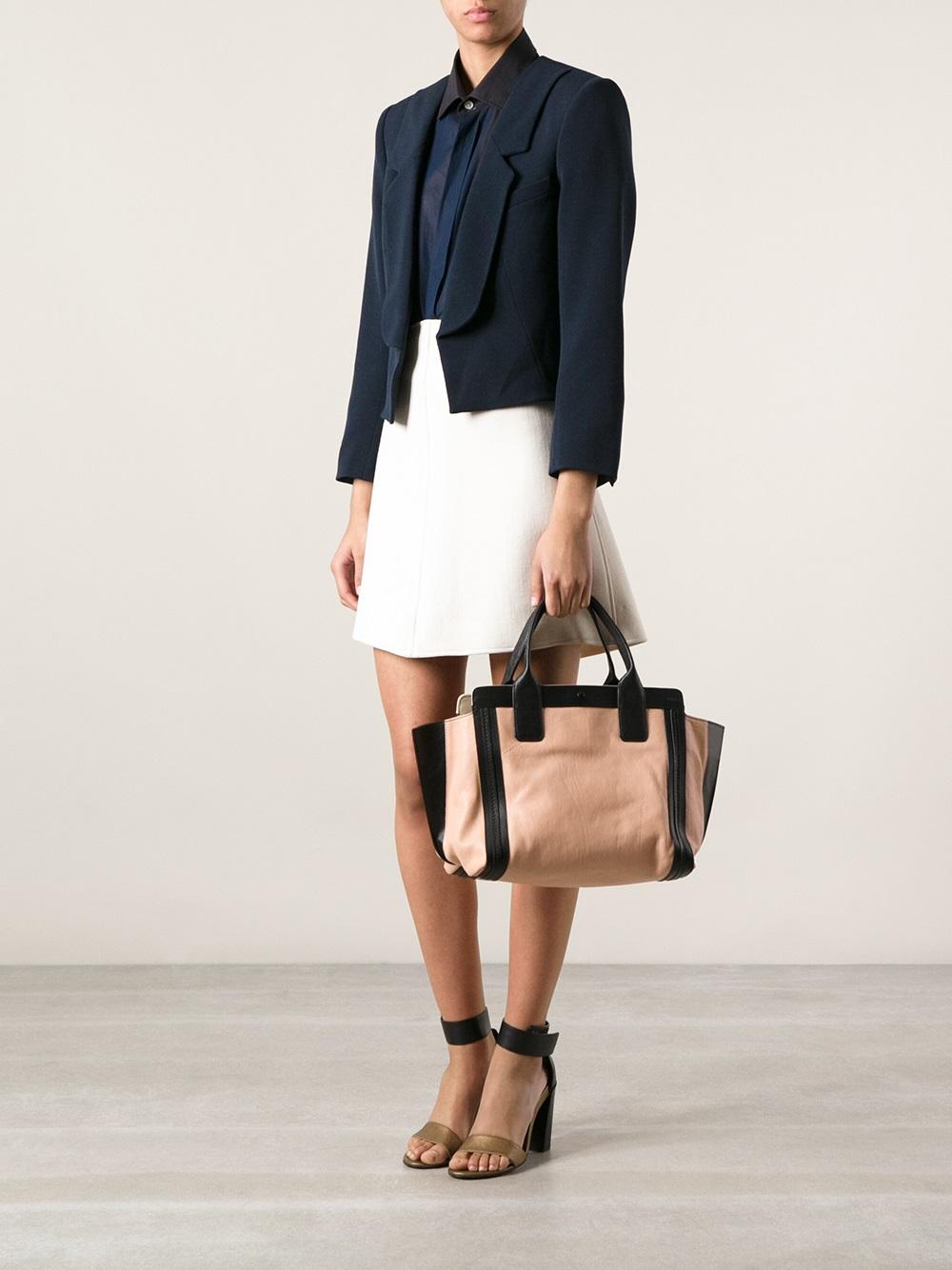 chloe handbags online - chloe leather alison tote, chloe purse