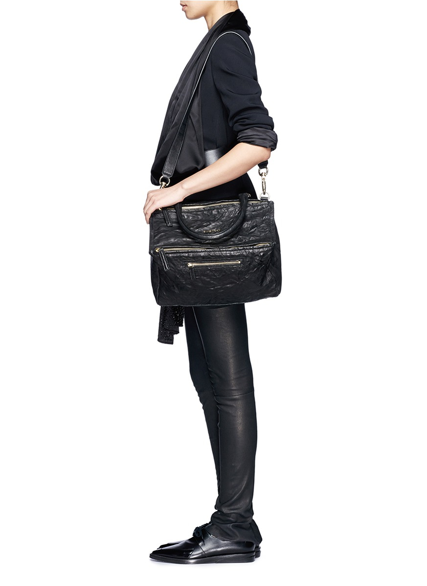 625c8a9df795 Lyst - Givenchy  pandora  Medium Leather Bag in Black