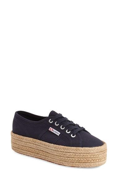 platform low top sneakers - Blue Superga JuDC00ylN