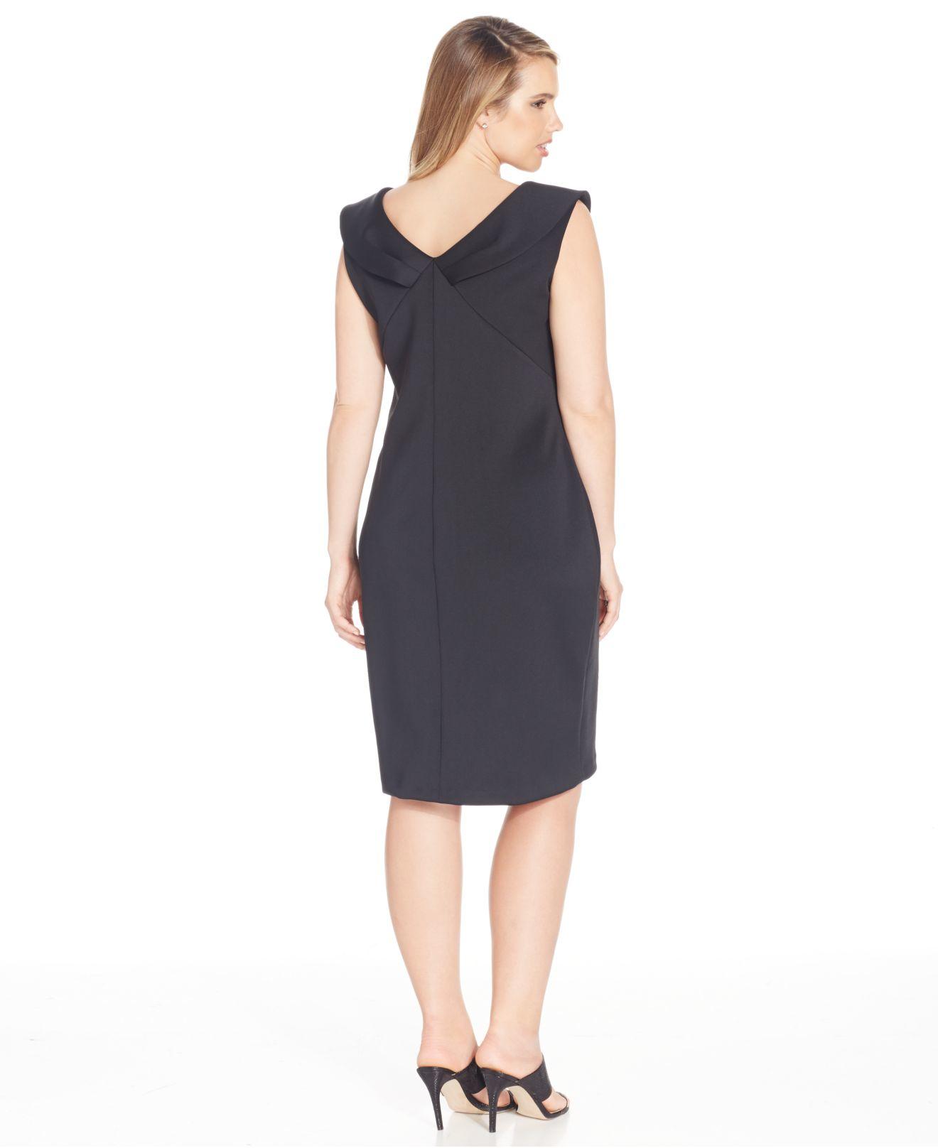HD wallpapers calvin klein plus size zip front sleeveless dress