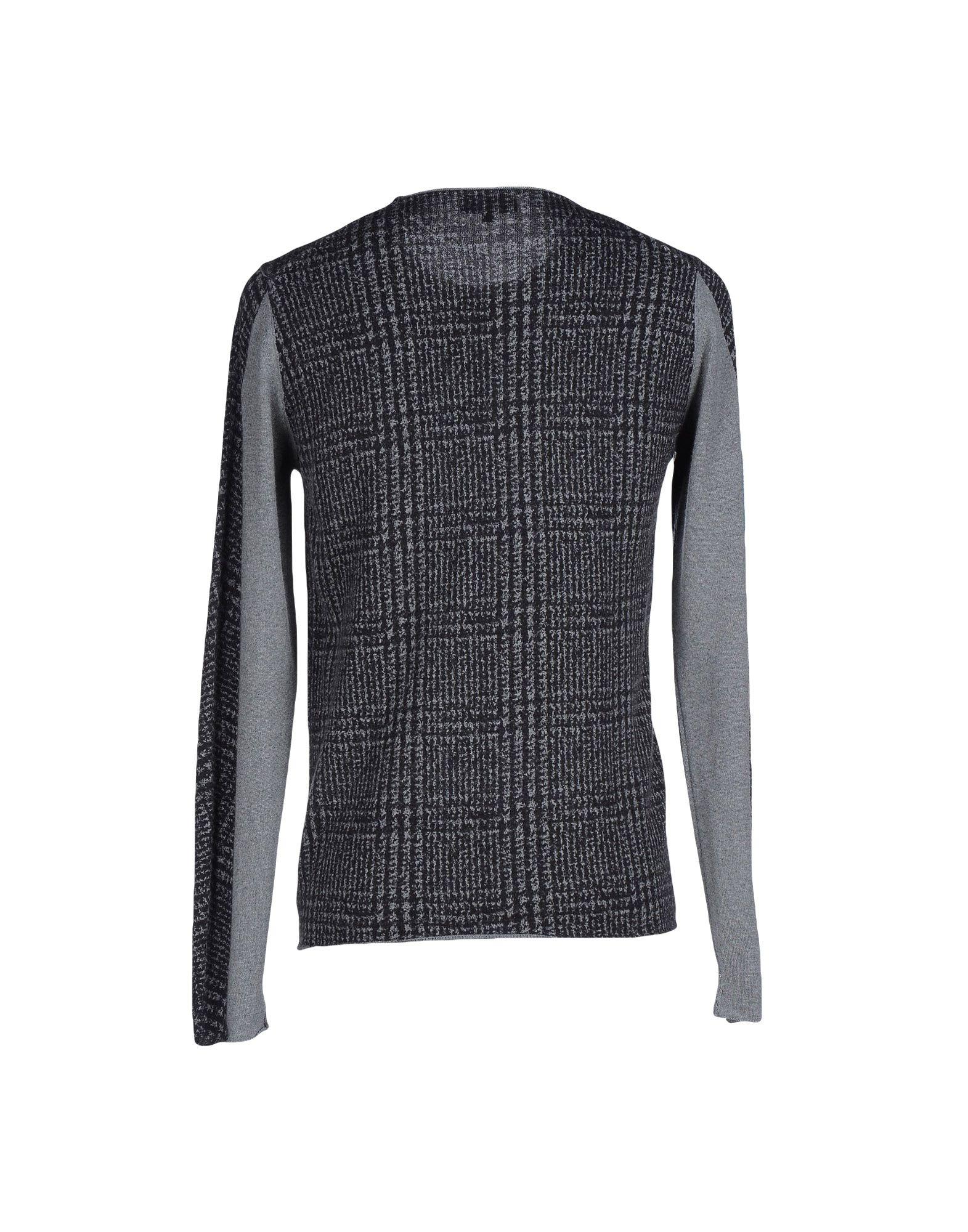 lyst emporio armani jumper in gray for men. Black Bedroom Furniture Sets. Home Design Ideas