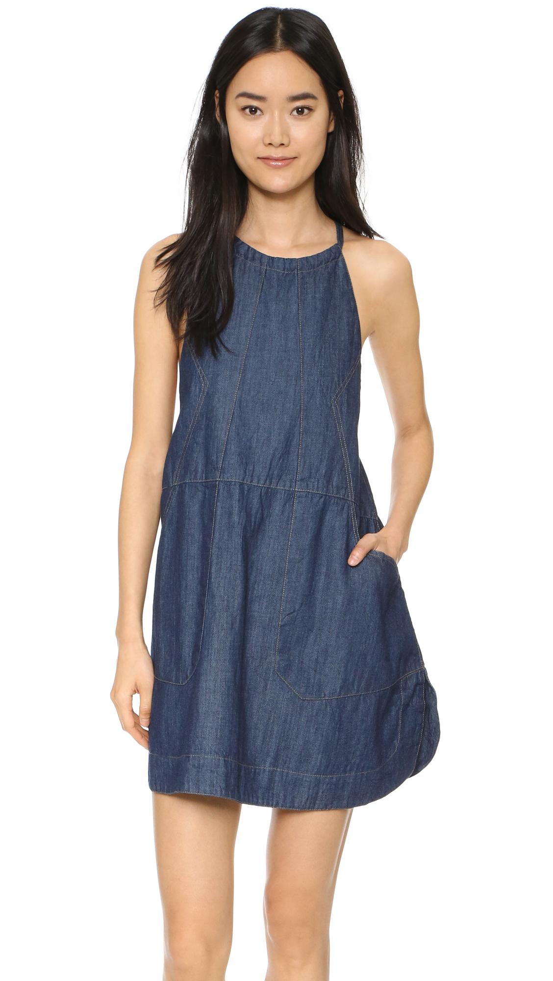 Free people Blue Jean Baby Dress in Blue  Lyst