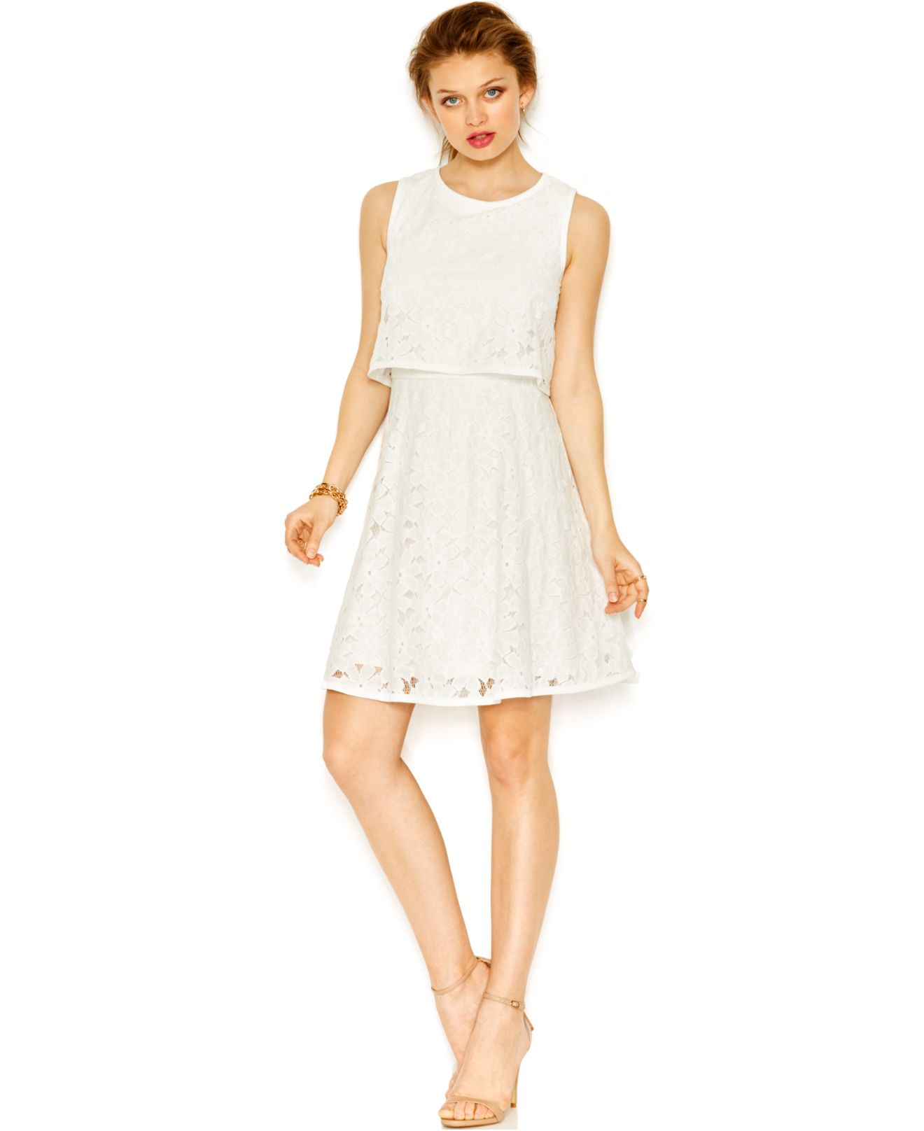 Lace Popover A Line Dress