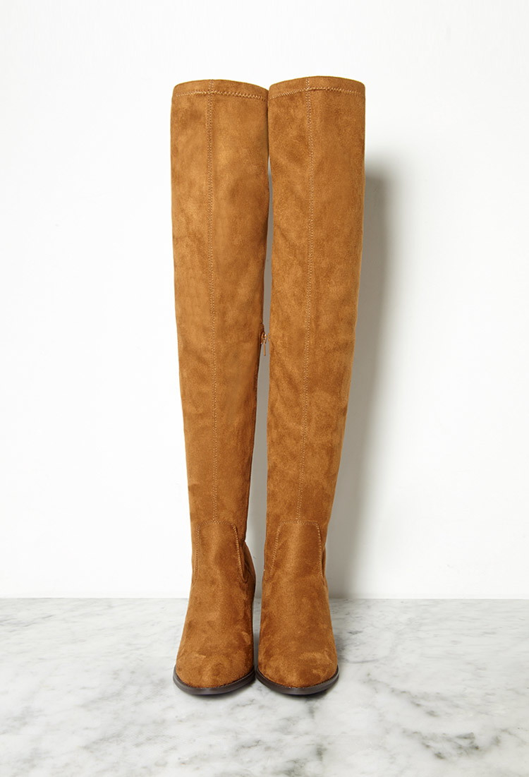 forever 21 thigh high faux suede boots you ve been added