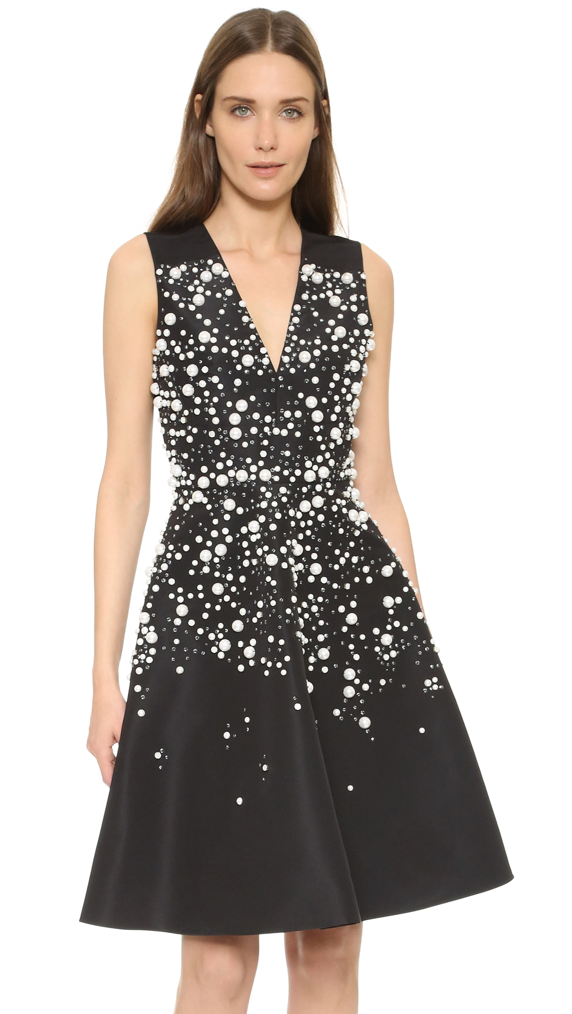 Prabal gurung Sleeveless Dress in Black | Lyst