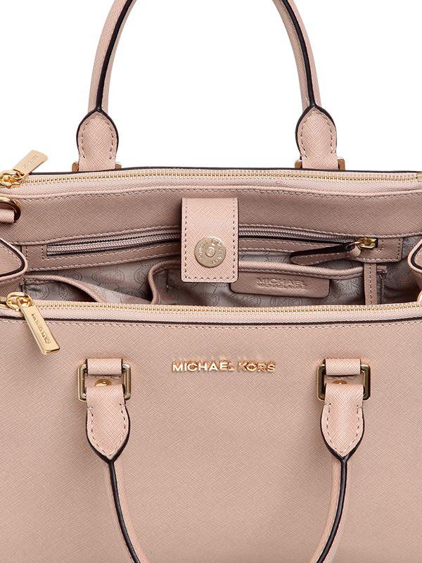 2ca5feb706fc5 wholesale michael michael kors medium sutton saffiano leather bag in pink  lyst 8b3ac fe0af