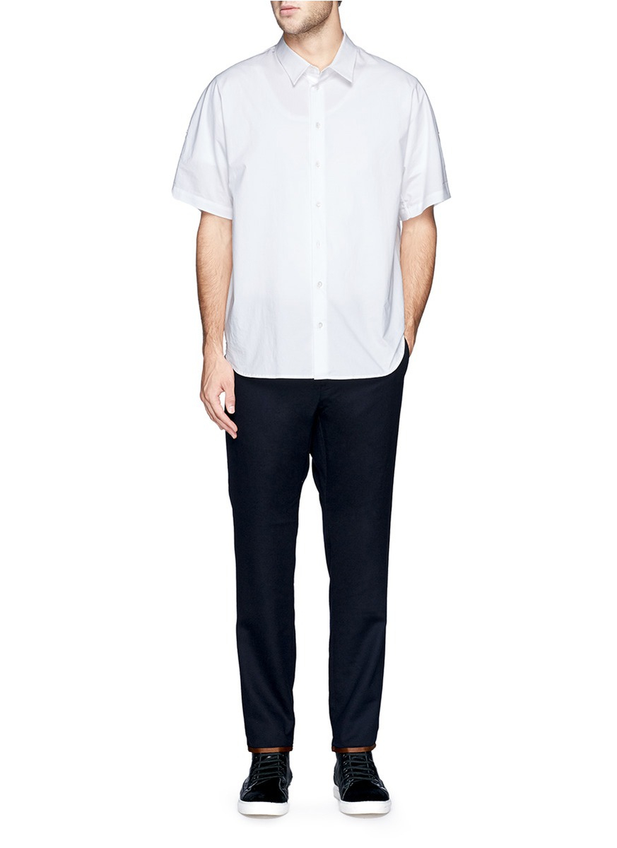 Nanamica Stretch Wool Pants in Blue for Men