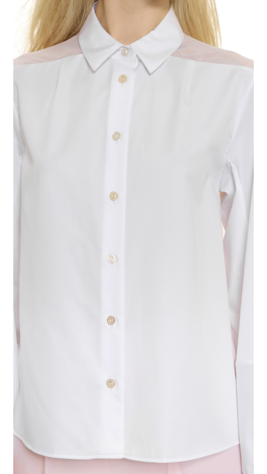 Temperley London Woman Sunray Stretch Cotton-poplin Blouse White Size 16 Temperley London Hot Sale Online Cheap Exclusive How Much Fast Shipping Ost Release Dates Gs7YT4Lfxh