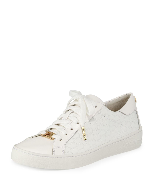 4f8032907964d MICHAEL Michael Kors White Colby Logo-embossed Sneaker