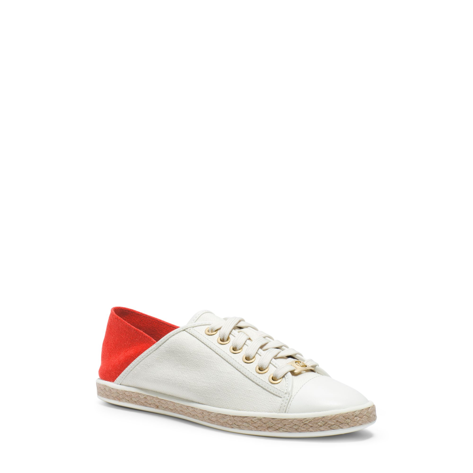 Lyst Michael Kors Kristy Color Block Canvas Sneaker In White