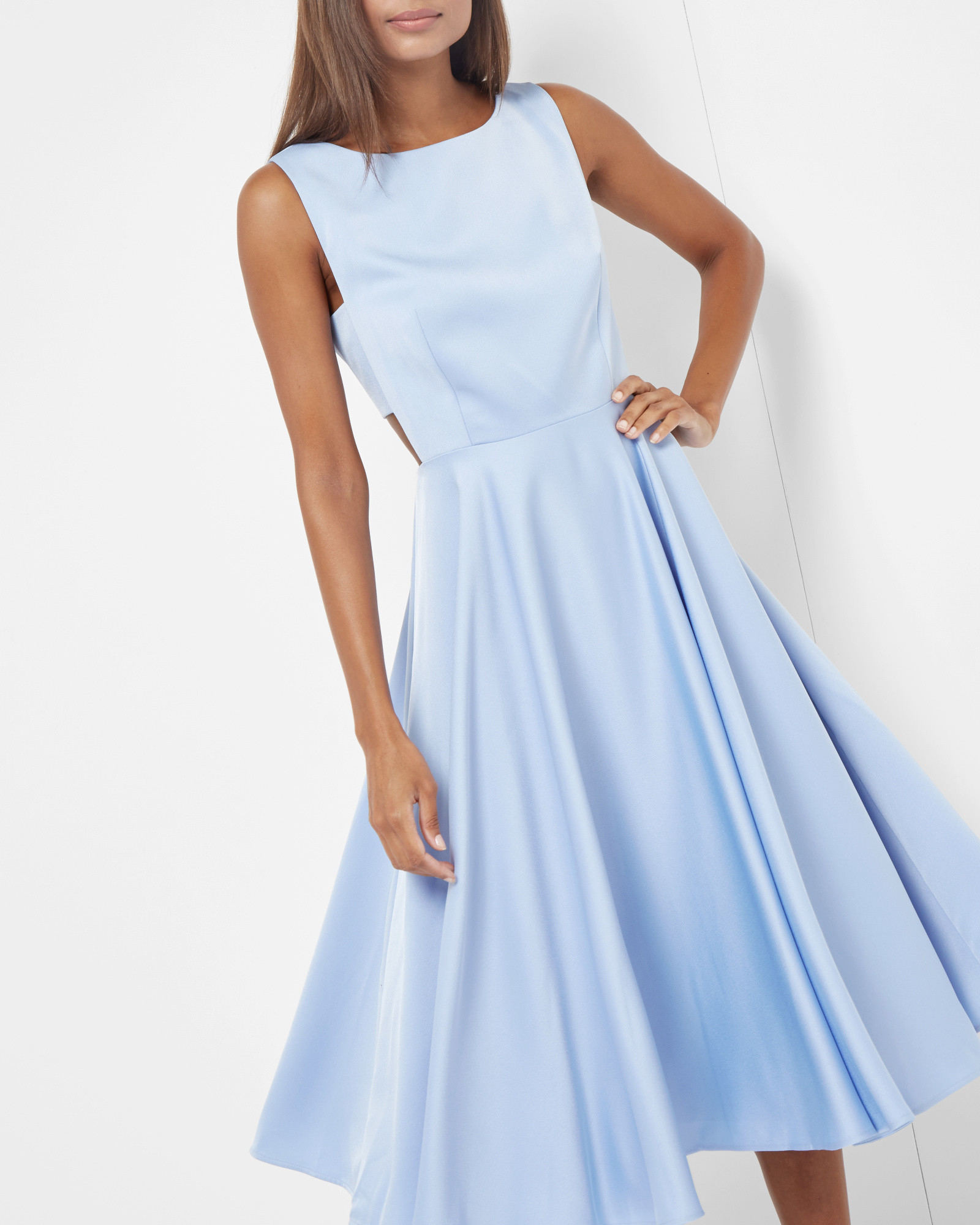 3db4aaec2 Lyst - Ted Baker Cut-out Midi Dress in Blue