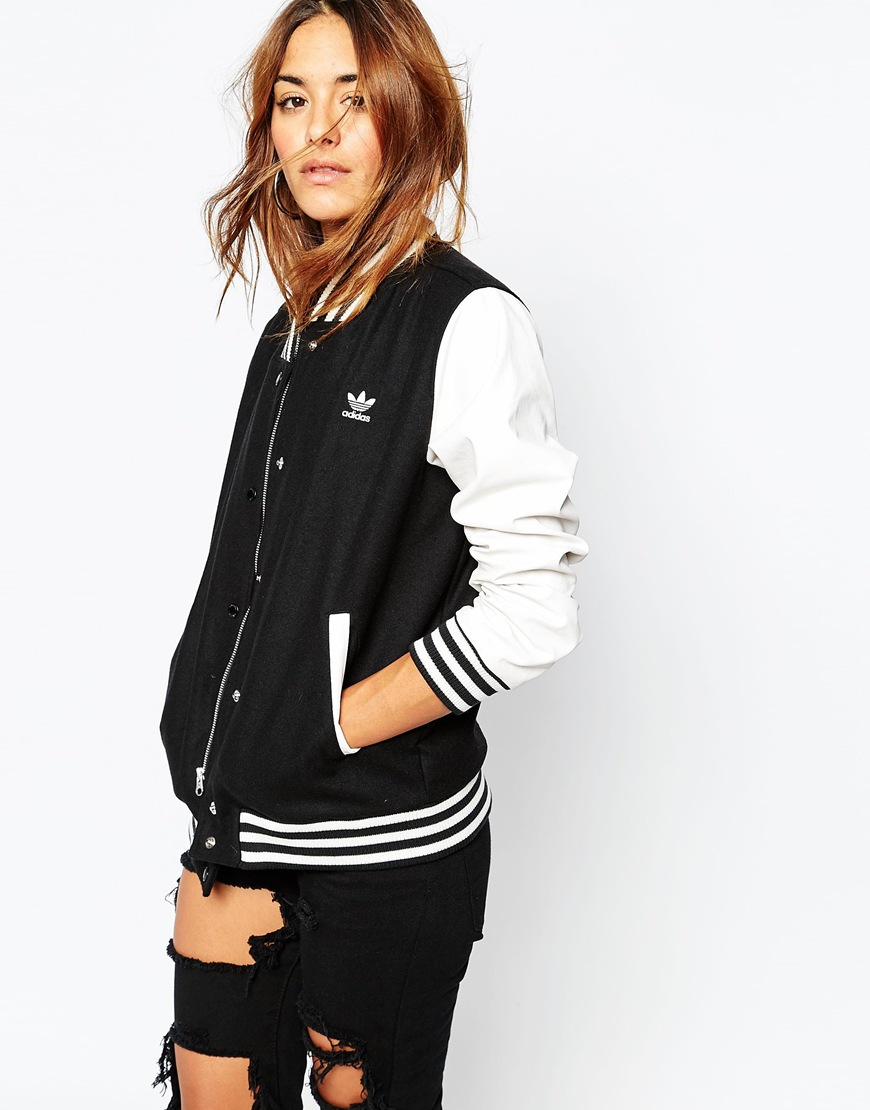 Lyst Adidas Originals Bomber Jacket