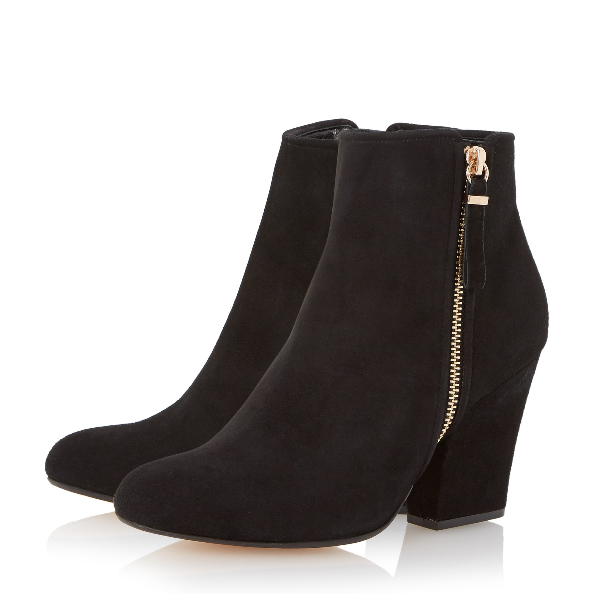 dune orla zip ankle boots in black lyst