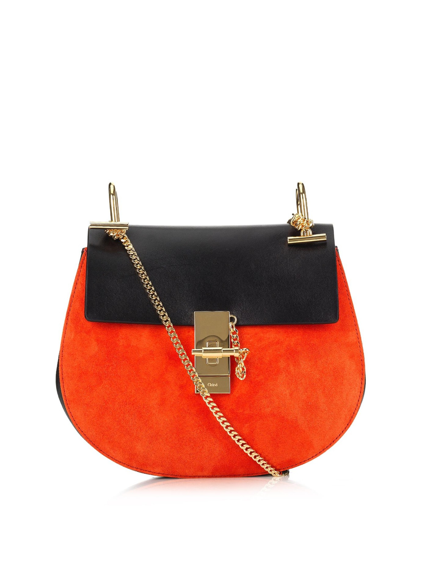 chleo bags - chloe drew small embellished suede and leather shoulder bag, chloe ...