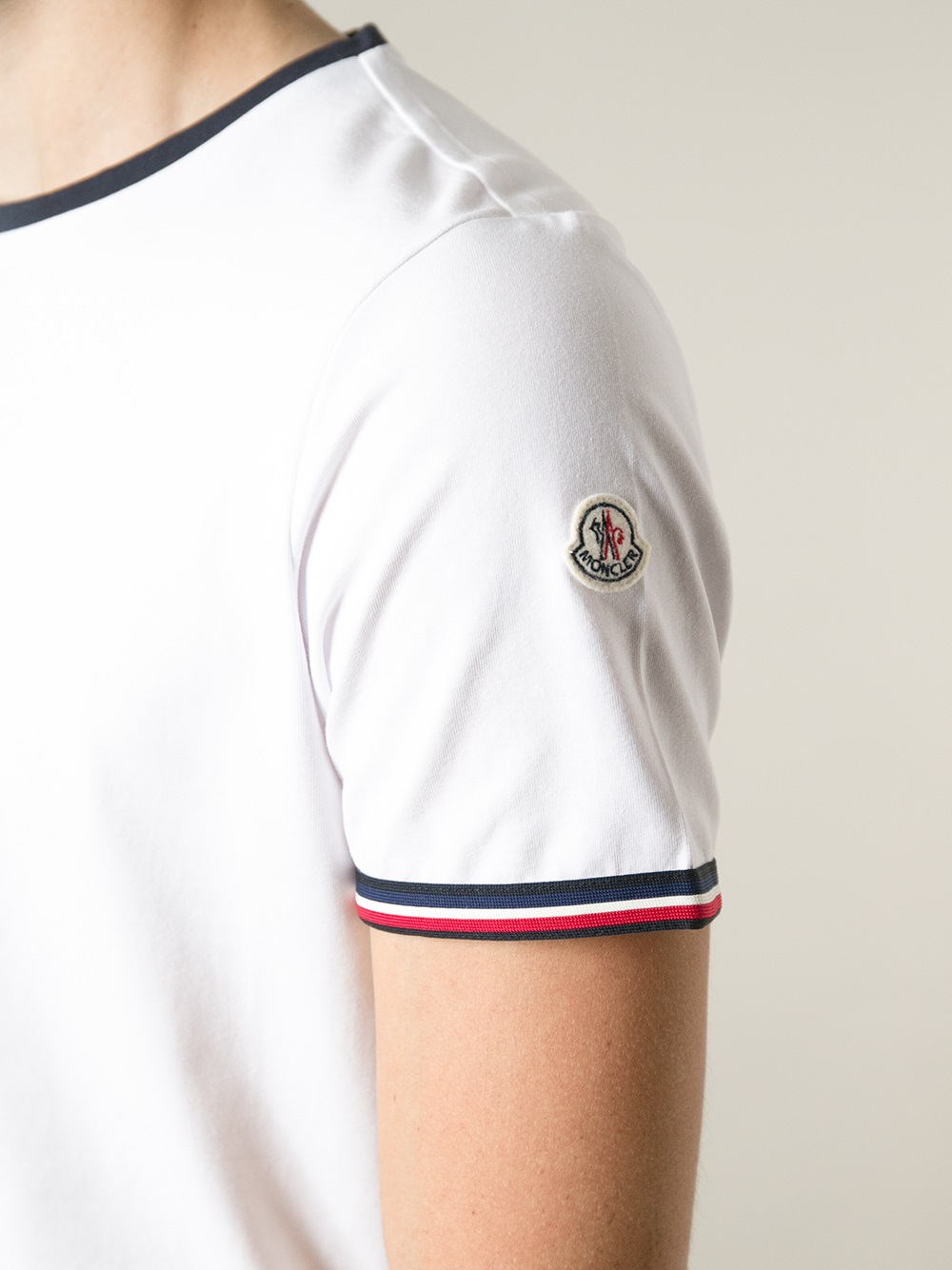 Moncler Classic T-shirt In White For Men