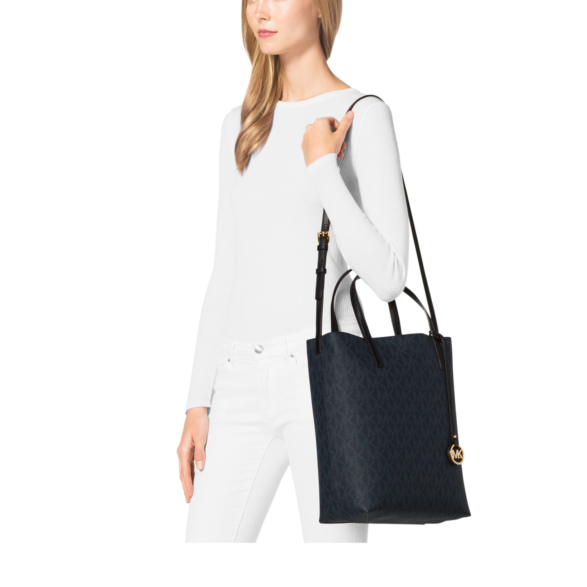 88097850166e Michael Kors Hayley Large Tote in Blue - Lyst