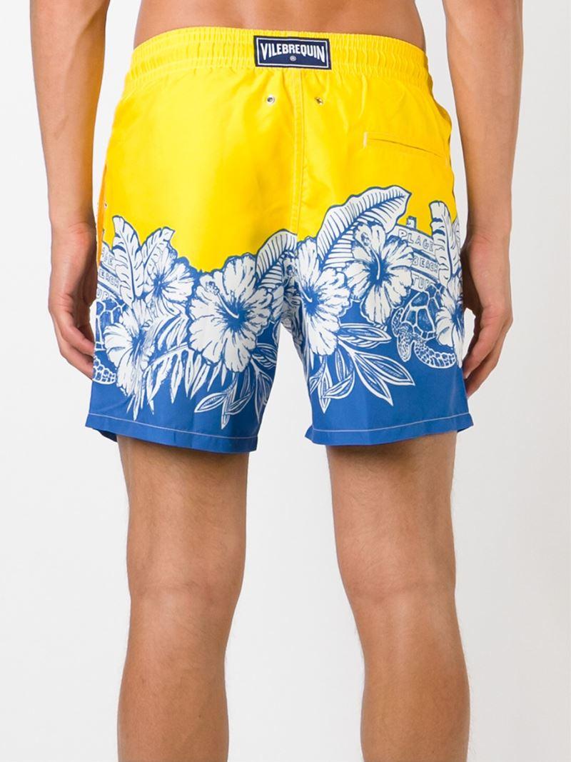 Lyst Vilebrequin Hawaiian Flower Print Swim Shorts In