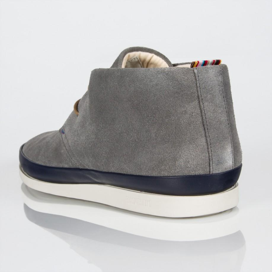 226b96f412a Paul Smith Gray Grey Suede 'Loomis' Chukka Boots With Navy Trims for men