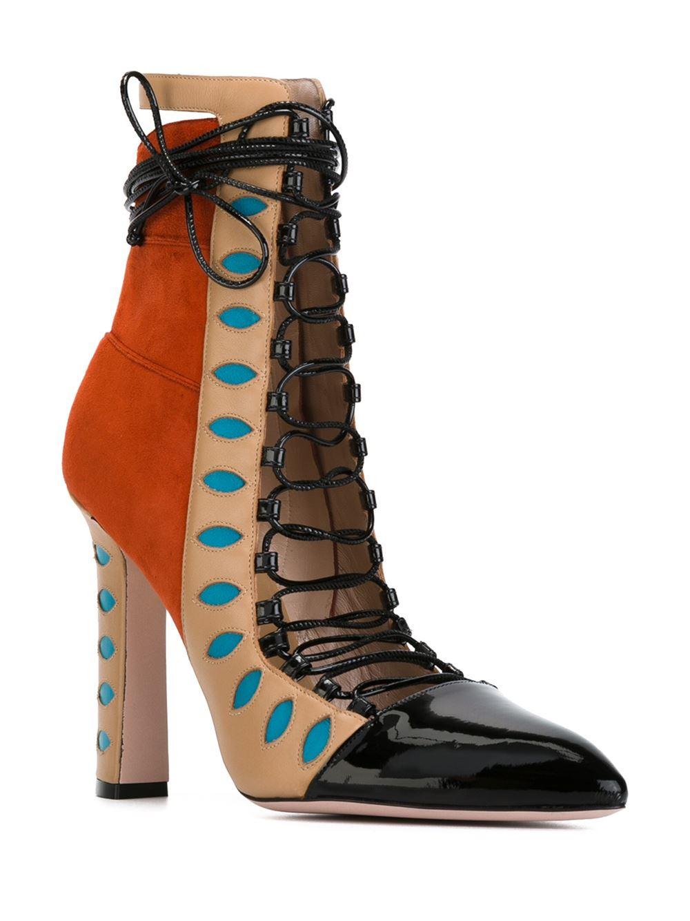 91bb012b33e Paula Cademartori Blue 'warrior' Boots