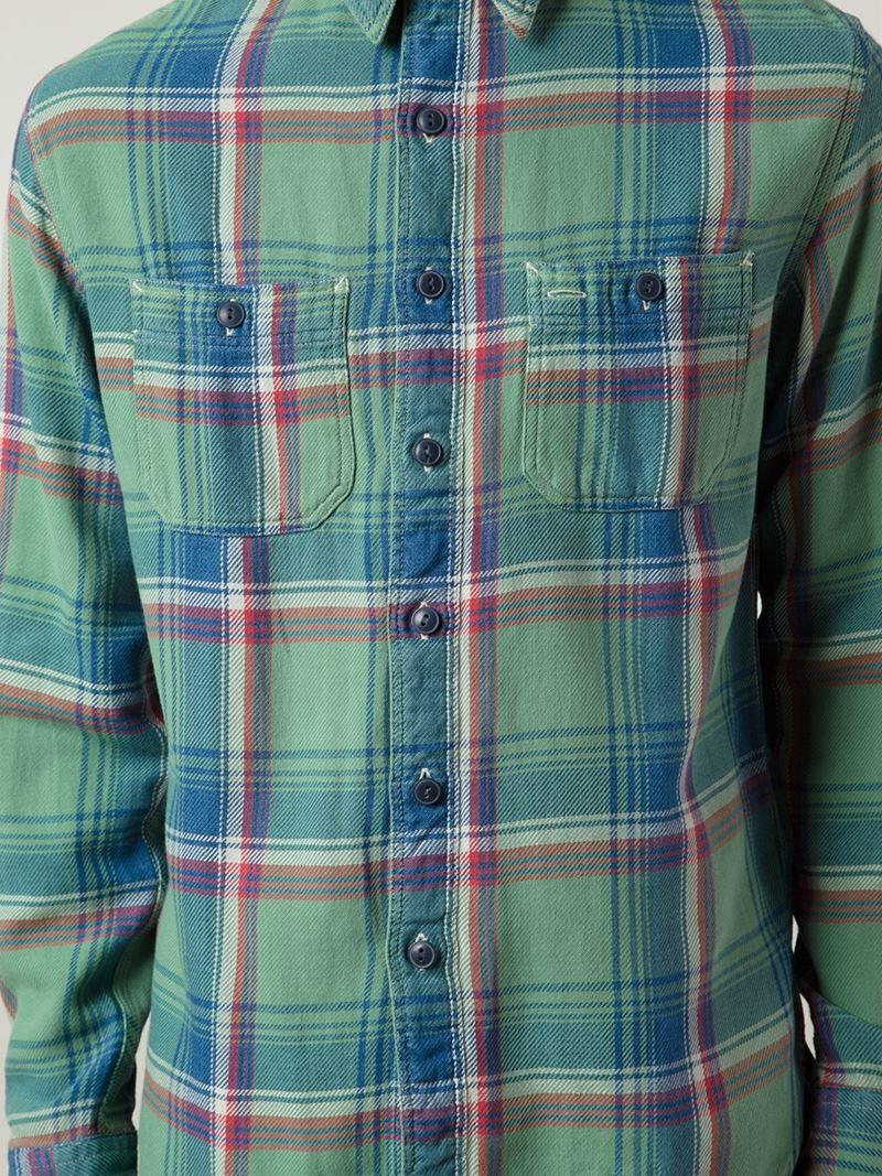 Lyst Rrl Plaid Shirt In Green For Men