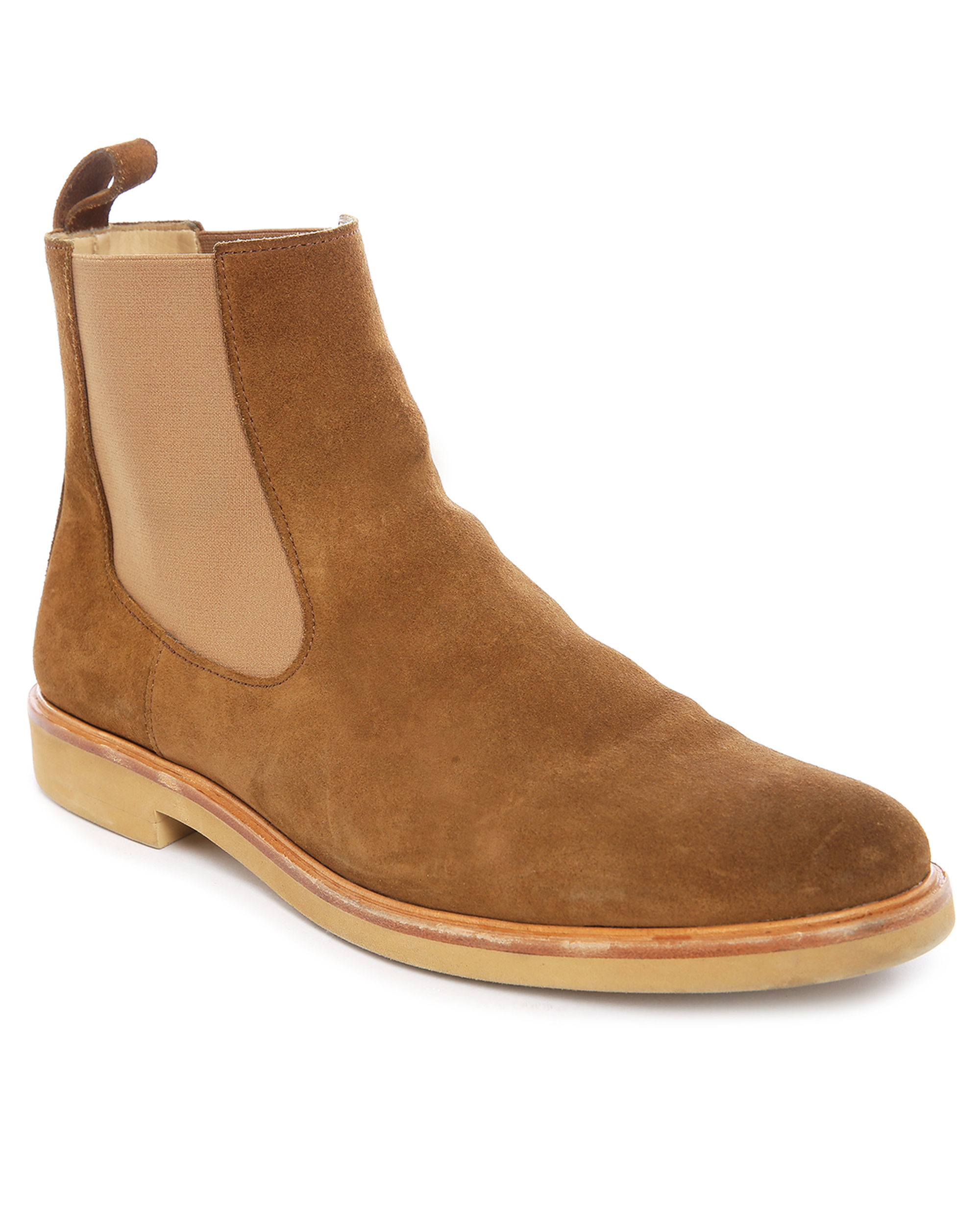 A P C Suede Chelsea Boots In Brown For Men Lyst