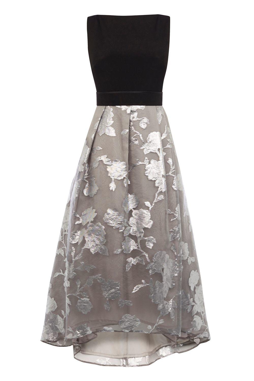 Coast Roccobella Dress In Silver Lyst