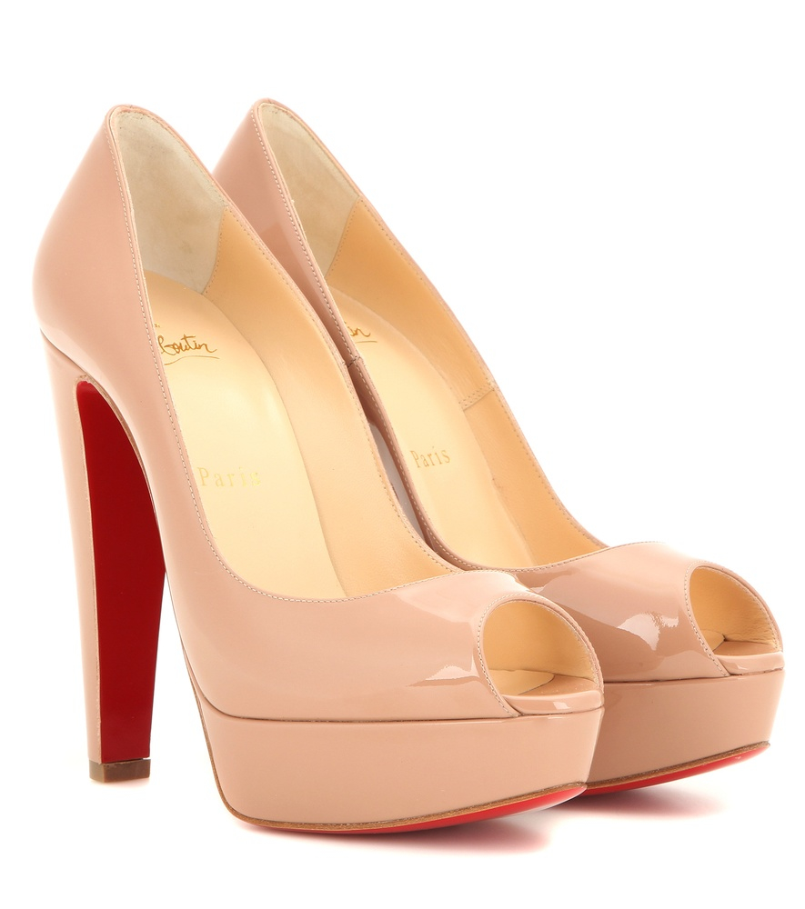 free shipping 4f9ac 8cf5a Christian Louboutin Altanana 140 Patent Leather Pumps in ...