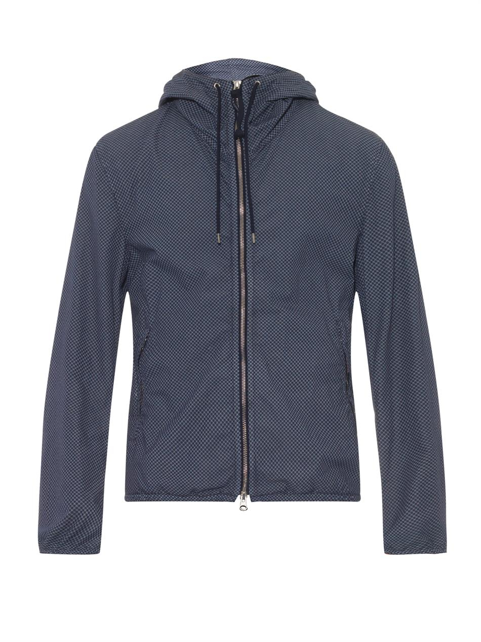 C P Company Lightweight Hooded Goggle Dot Print Jacket In