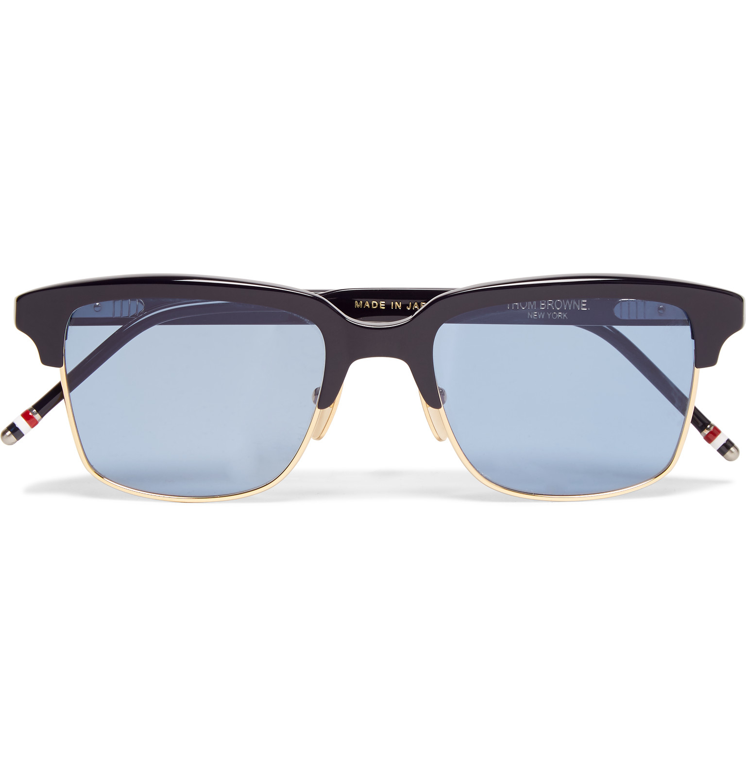 ac6cdba4147 Thom Browne Square-frame Acetate And Gold-tone Sunglasses in Blue ...