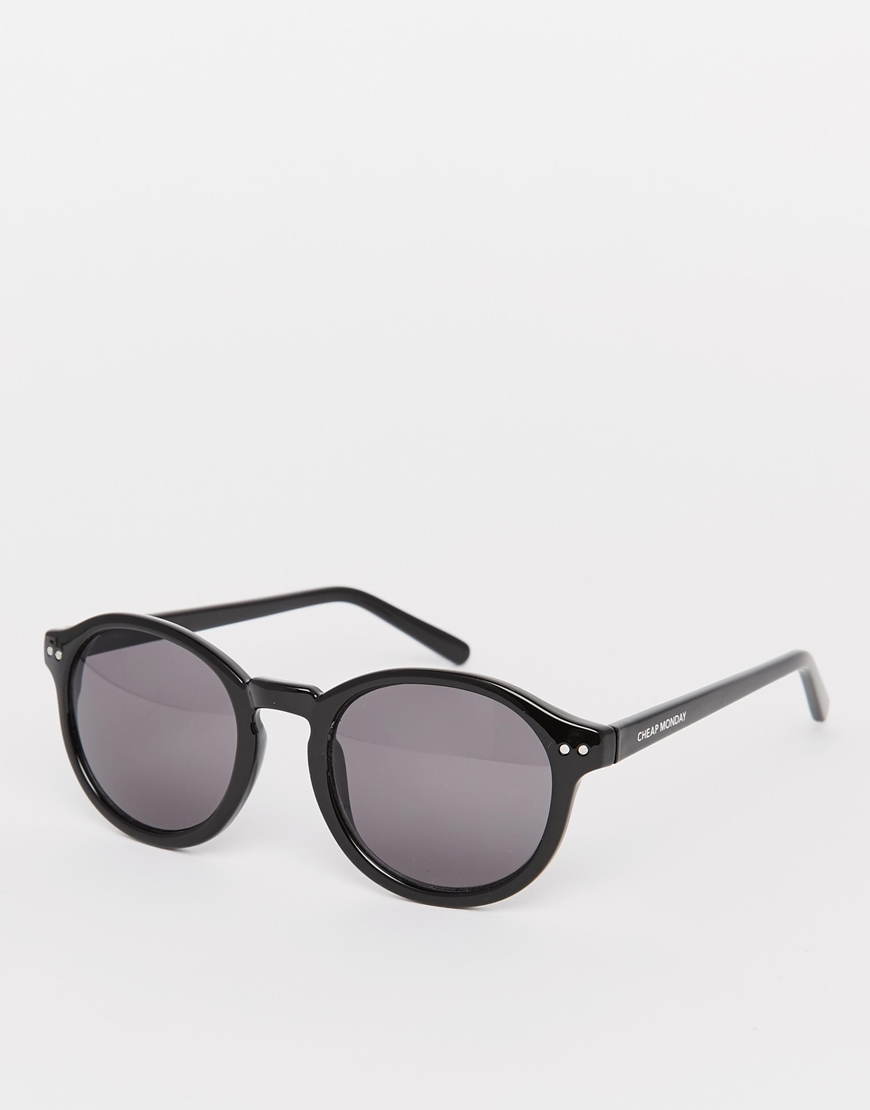 Lyst - Cheap Monday Circle Sunglasses in Black 969ca7338