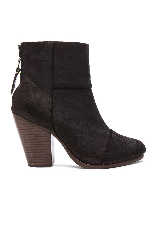 rag bone newbury suede boots in black lyst