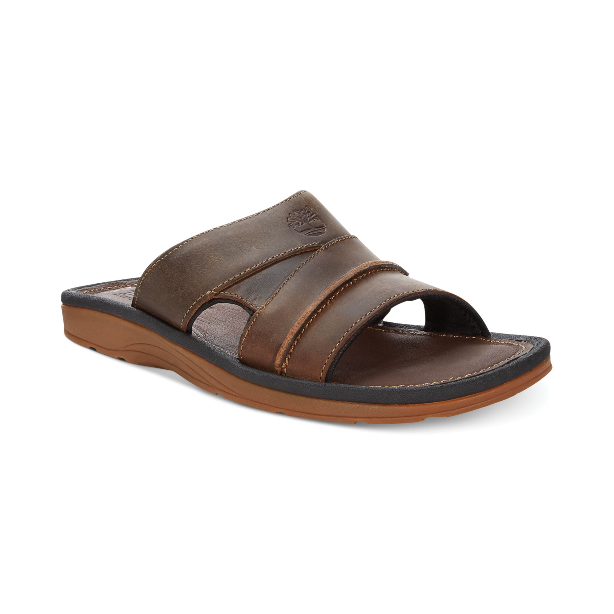 timberland earthkeepers rugged slide sandals in brown for. Black Bedroom Furniture Sets. Home Design Ideas