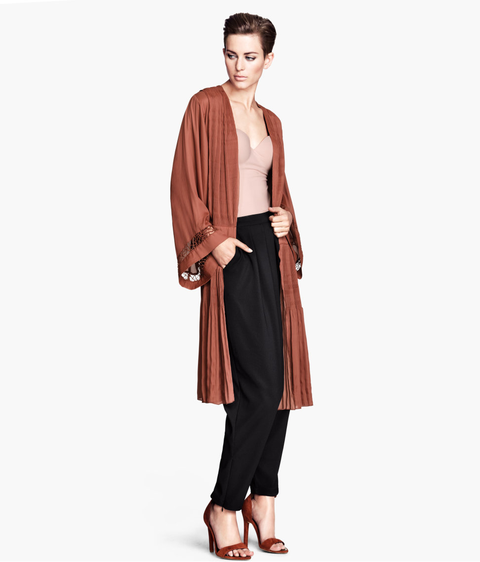 Lyst - H&m Pleated Kimono in Red