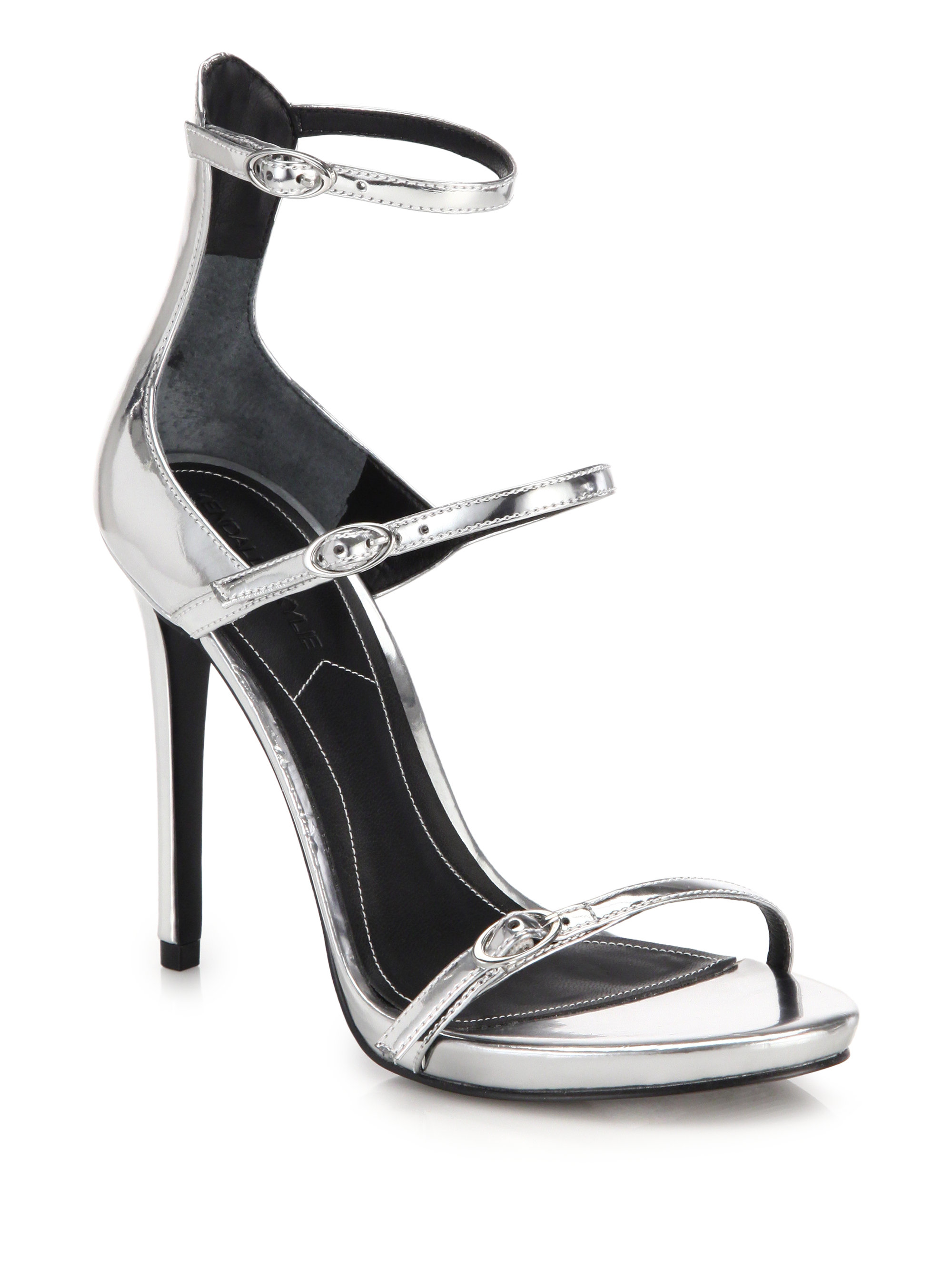 KENDALL + KYLIE Metallic Leather Sandals aMYeB4e