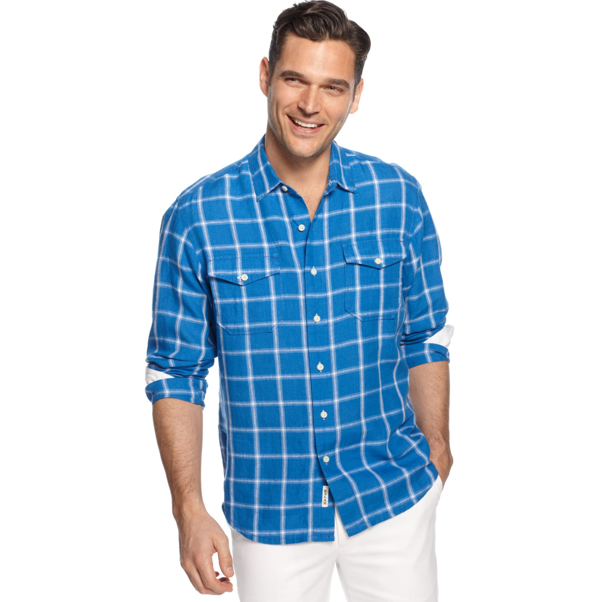 Tommy bahama long sleeve montauk breezer linen shirt in for Tommy bahama christmas shirt 2014