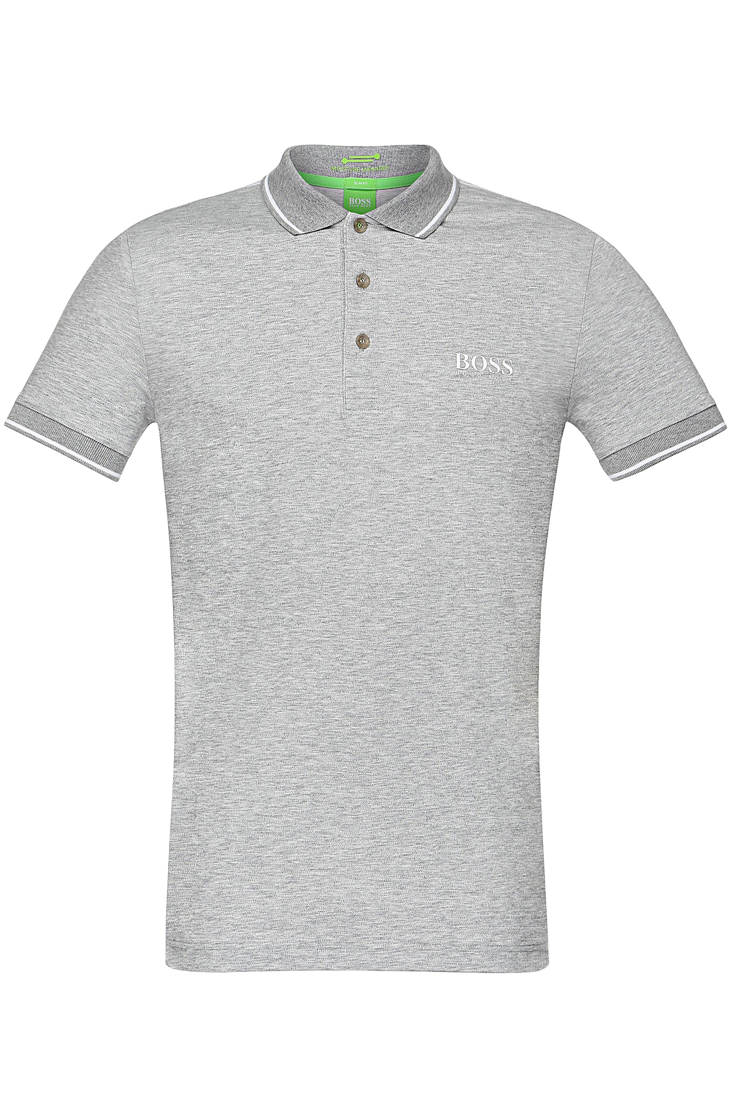 Boss Green Slim Fit Polo Shirt In Functional Fabric