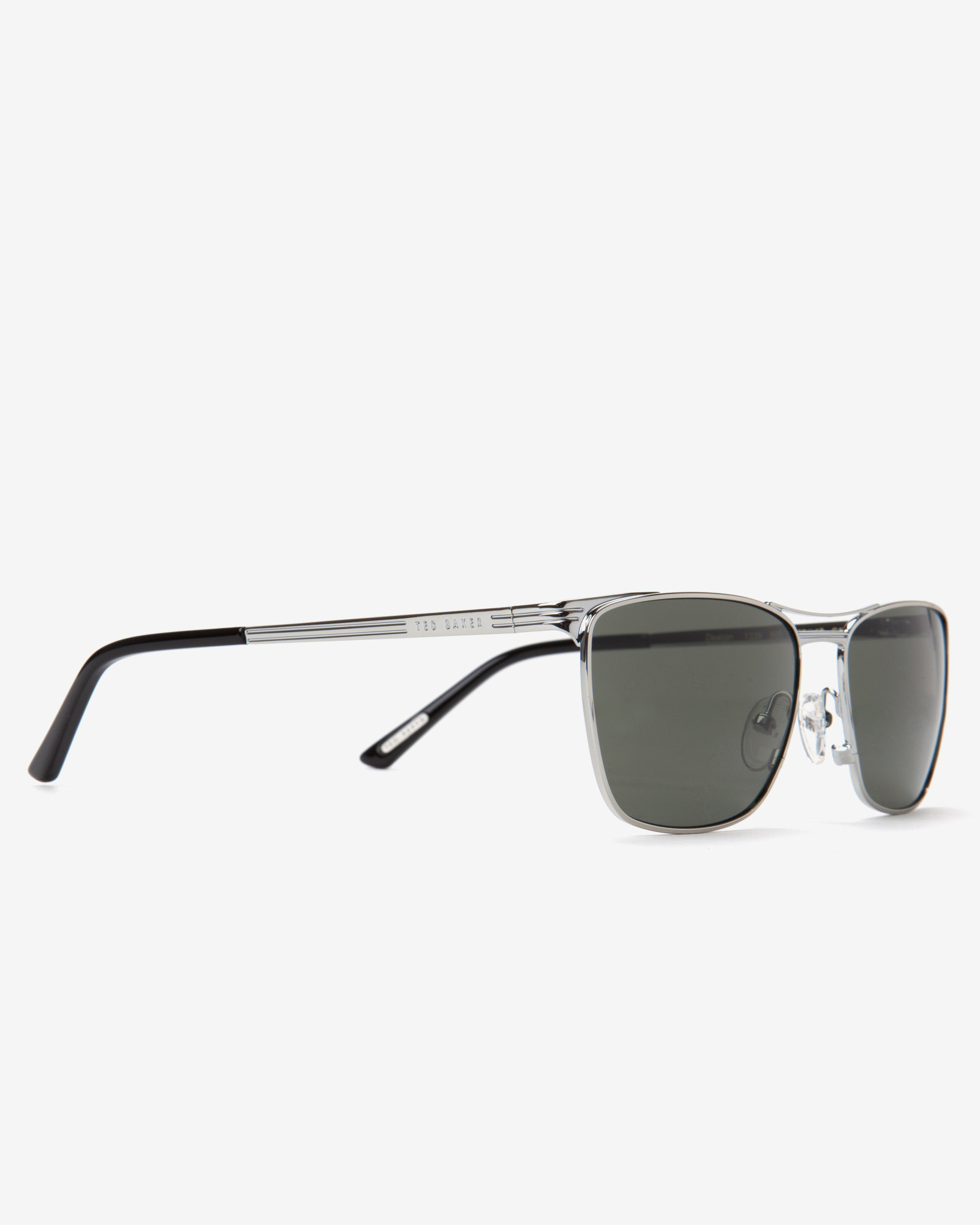 Ted Baker Square Frame Sunglasses in Metallic for Men